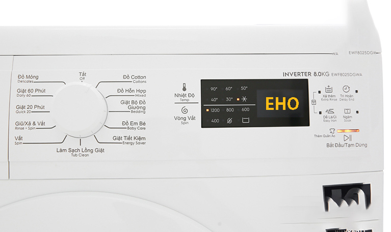 Máy giặt Electrolux báo lỗi EHO